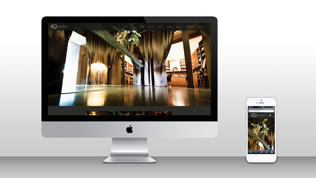 Website design for Spa Eleven