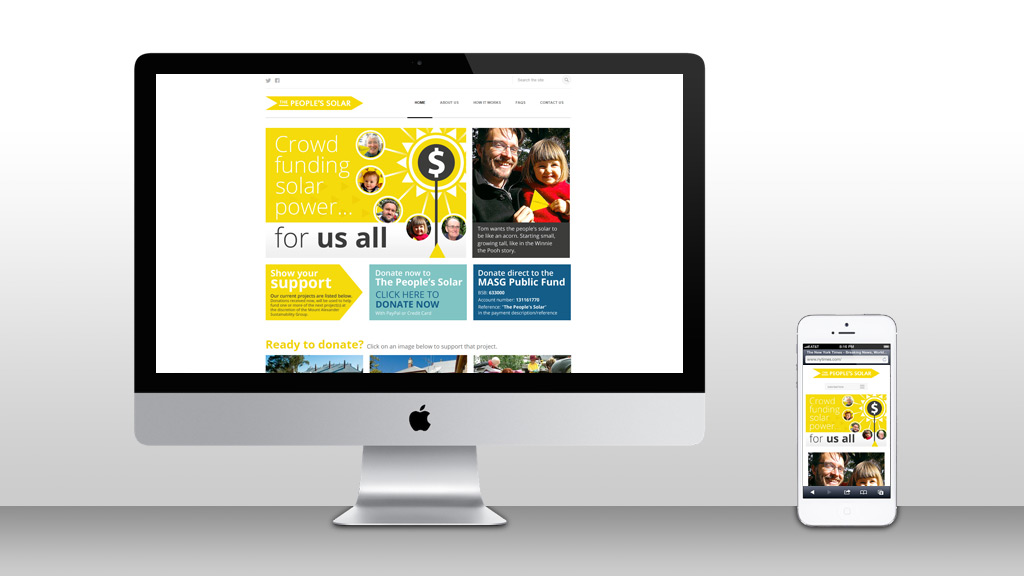 Website design for The People's Solar